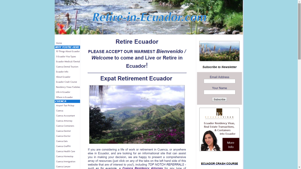 Retire in Ecuador (OLD)